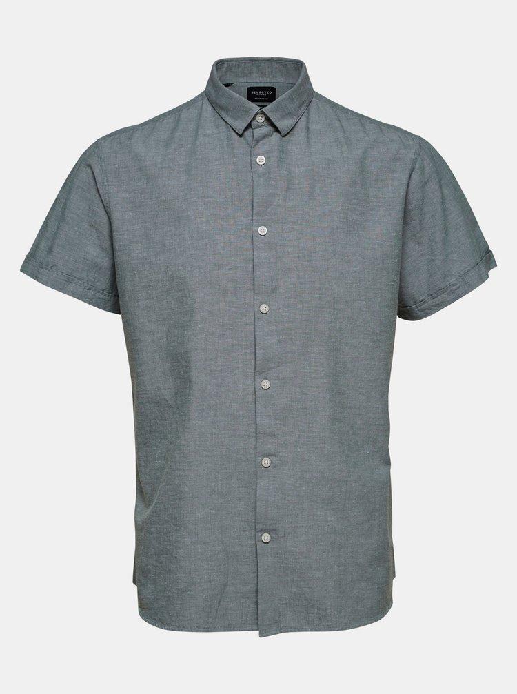 Tricouri cu maneca scurta pentru barbati Selected Homme - gri