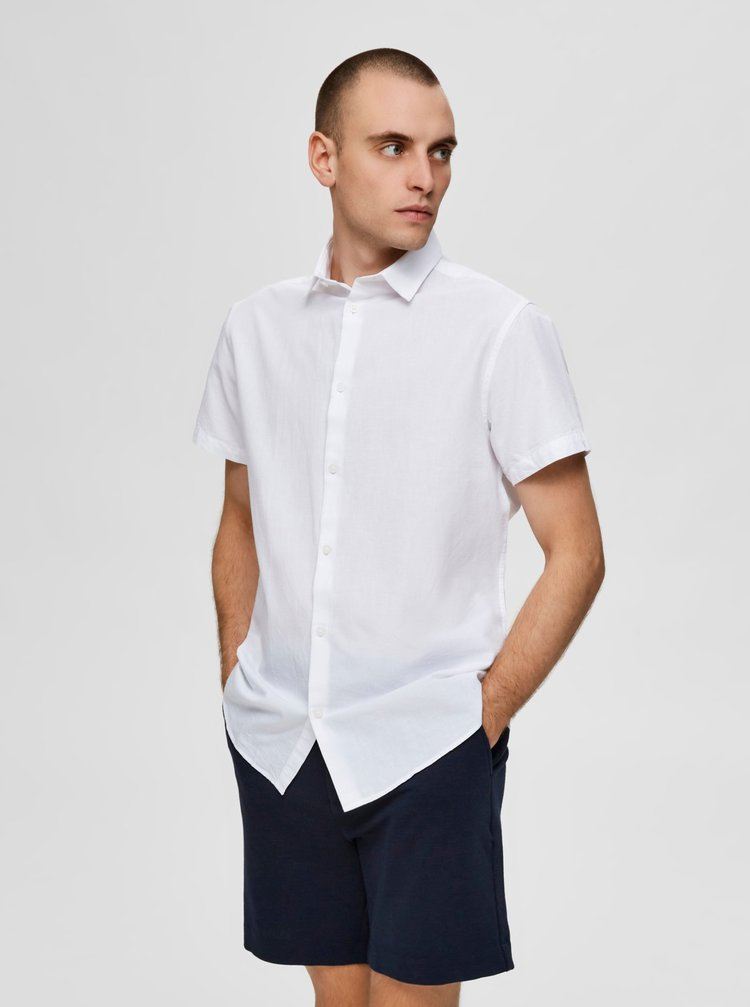 Tricouri cu maneca scurta pentru barbati Selected Homme - alb