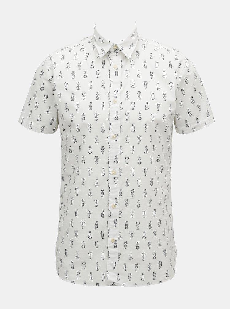 Bílá vzorovaná košile Selected Homme
