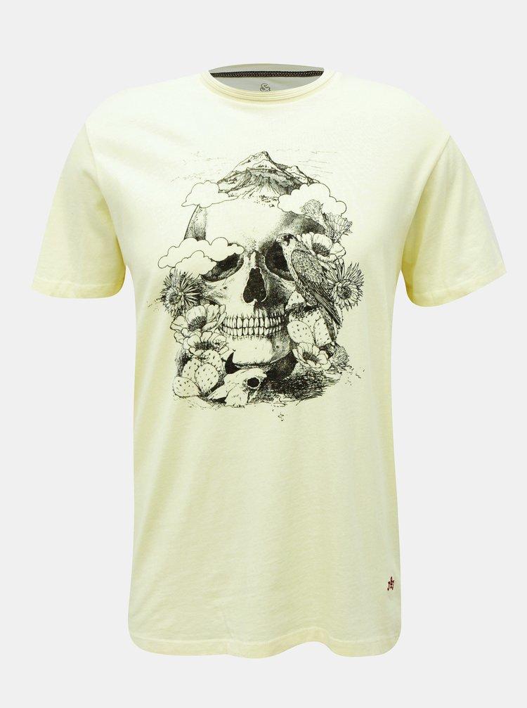 Světle žluté tričko Jack & Jones Roman