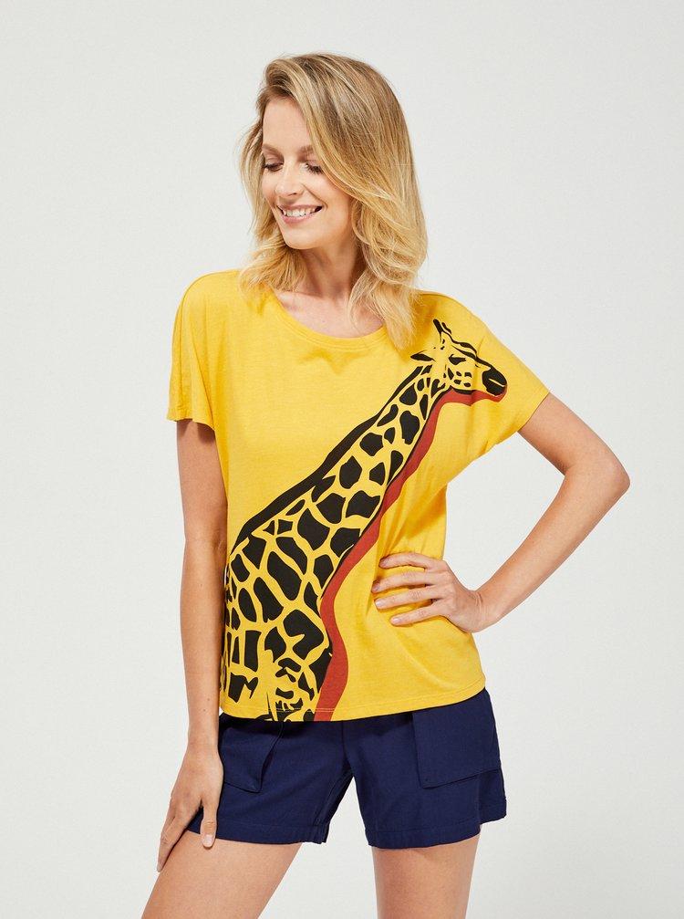 Žluté tričko Moodo