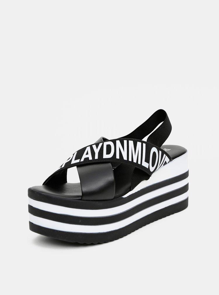 Černé dámské sandálky na platformě Replay