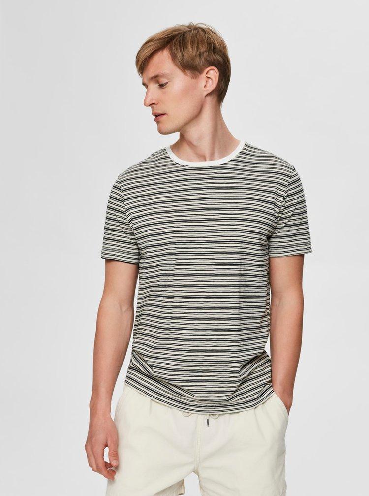 Tricouri pentru barbati Selected Homme - crem