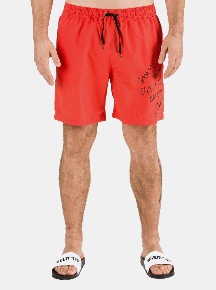 Červené pánske plavky s potlačou SAM 73
