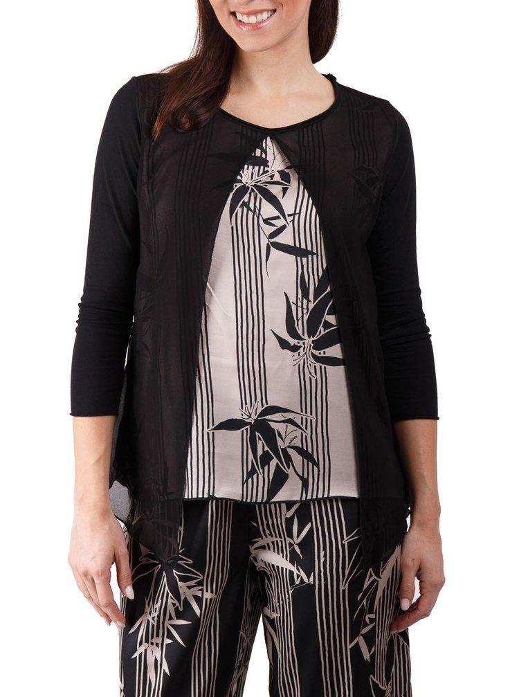 Deha černo-bílé elegantní tričko