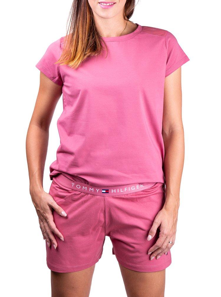 Tommy Hilfiger růžové tričko CN TEE SS