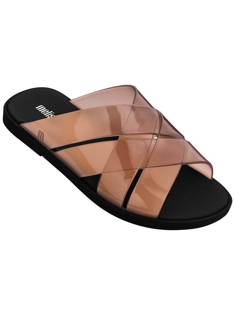 Melissa hnědé pantofle Breeze Brown/Black