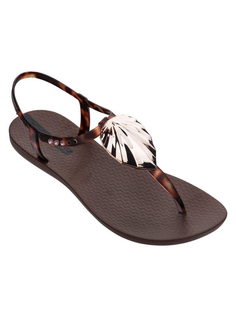 Ipanema hnědé sandály Leaf Brown/Clear