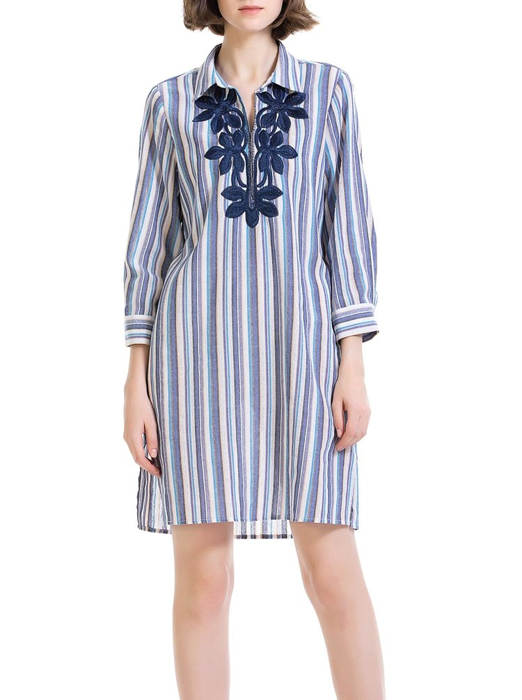 Anany pruhované košilové šaty Ejido