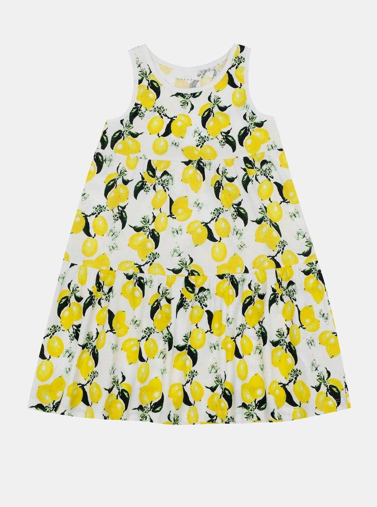 Žluto-bílé holčičí vzorované šaty name it Vigga