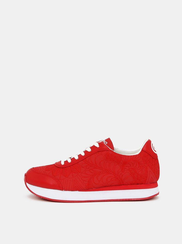 Pantofi sport si tenisi pentru femei Desigual - rosu