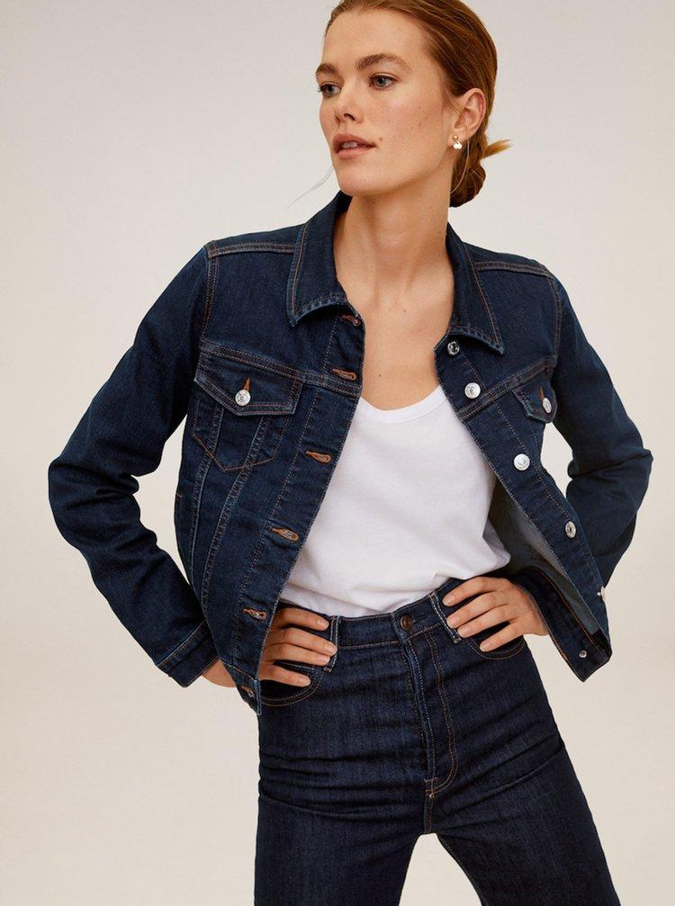 Tmavě modrá džínová bunda Mango