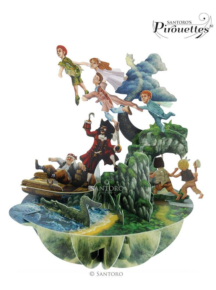 Santoro papírová 3D dekorace Peter Pan