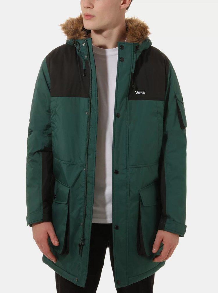 Tmavě zelená pánská zimní bunda VANS