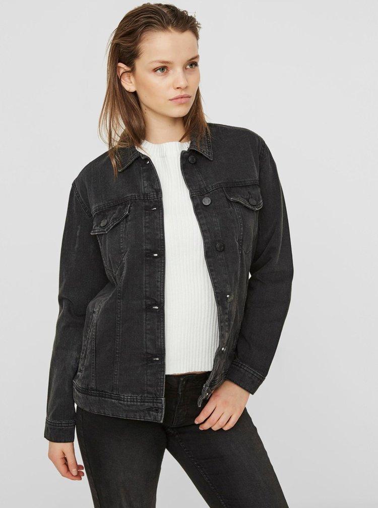 Černá džínová bunda Noisy May Ole