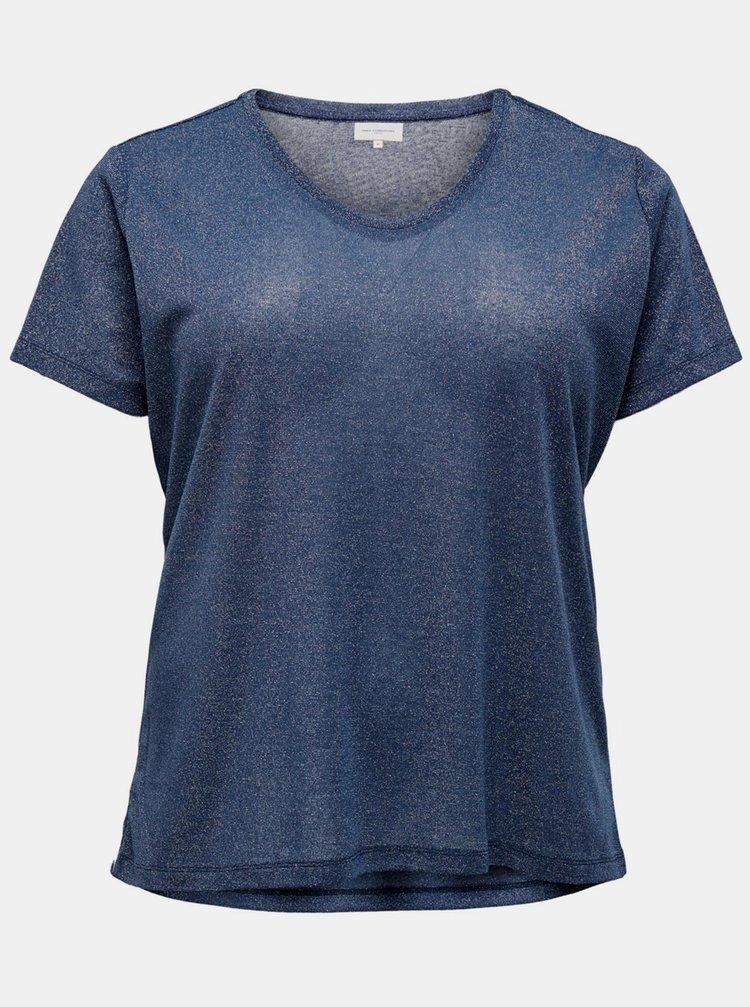 Topuri si tricouri pentru femei ONLY CARMAKOMA - albastru