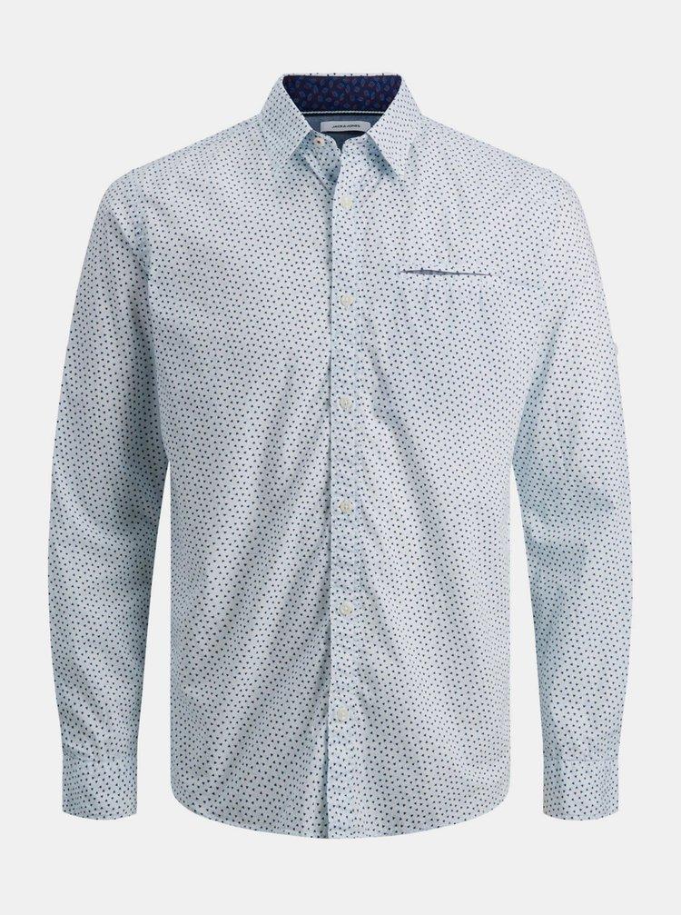 Camasi casual pentru barbati Jack & Jones - albastru deschis