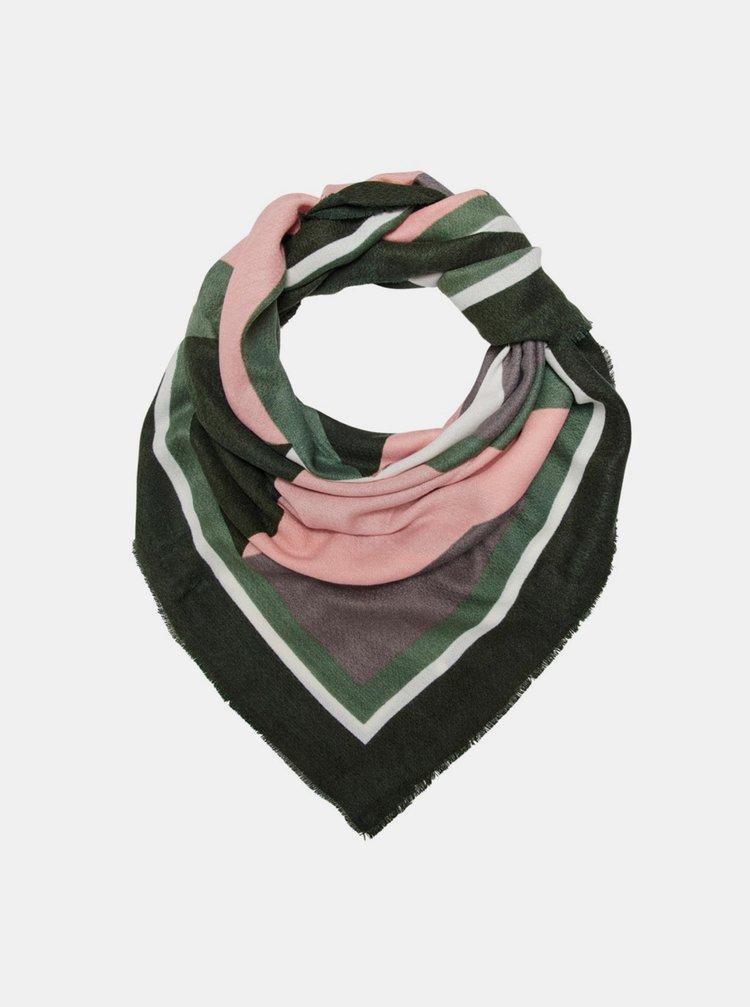 Růžovo-zelený šátek ONLY Oranje