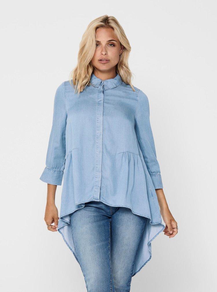 Modrá asymetrická džínová košile ONLY Canberra