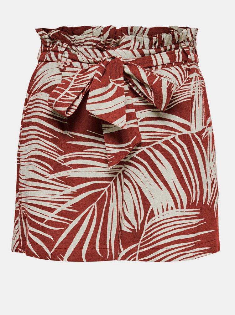 Pantaloni scurti  pentru femei ONLY - caramiziu