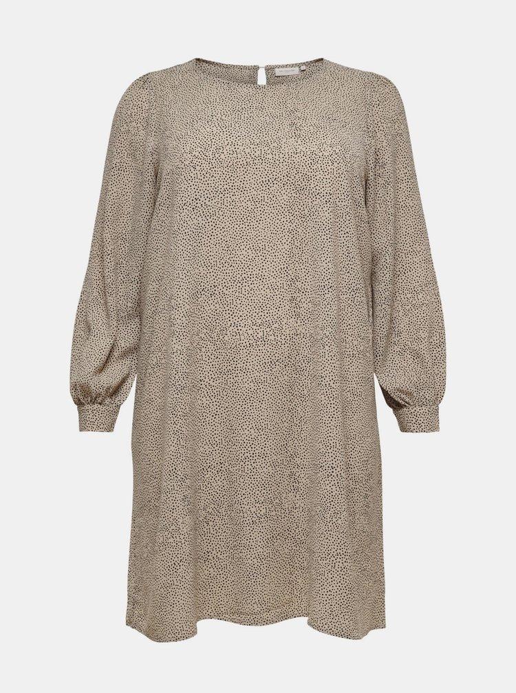 Béžové dámské šaty ONLY CARMAKOMA Fix