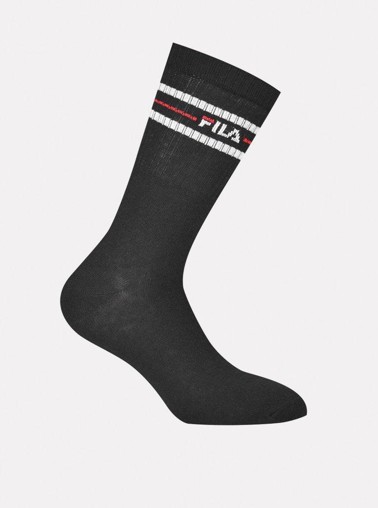 Sada tří párů pánských ponožek v černé barvě FILA