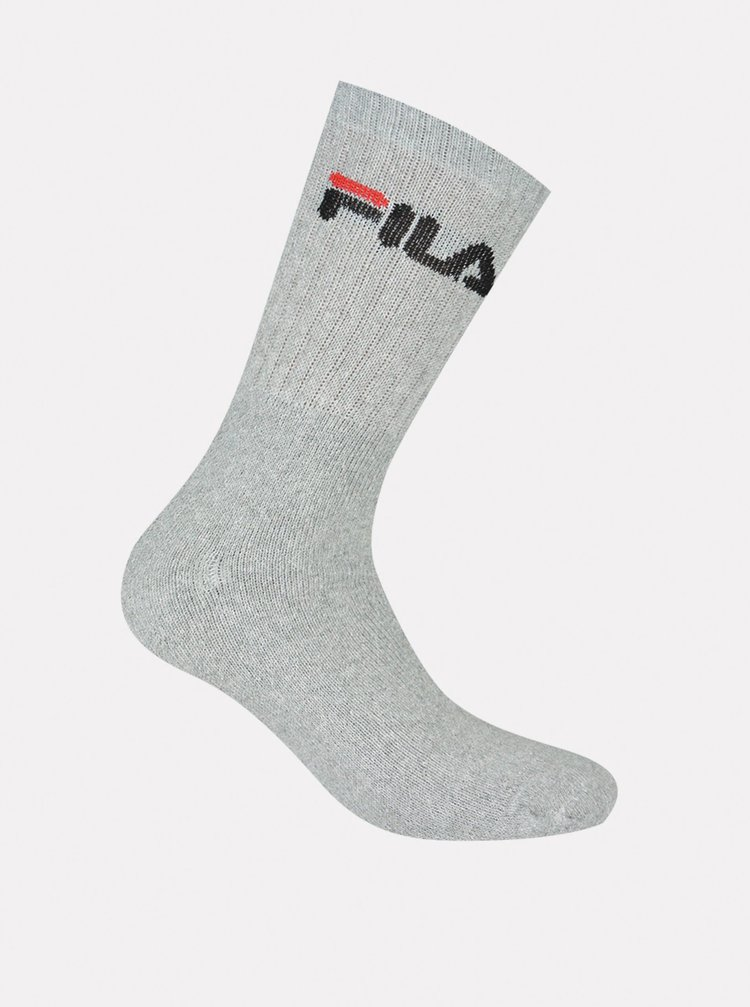 Sada tří páru ponožek v šedé barvě FILA