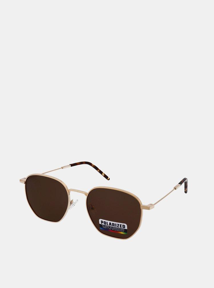 Ochelari de soare pentru barbati Crullé - auriu