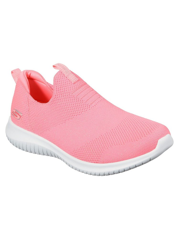 Skechers neonové růžové tenisky Ultra Flex Candy Craving