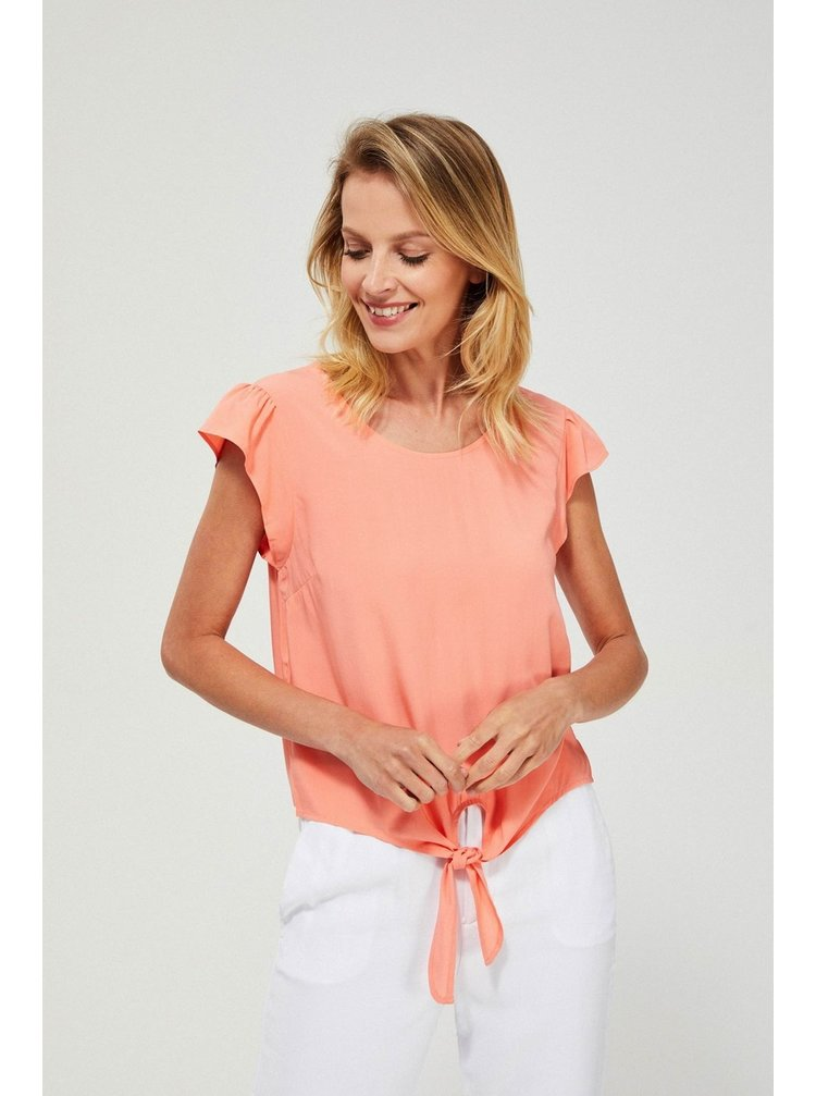 Moodo meruňkové tričko s vázáním