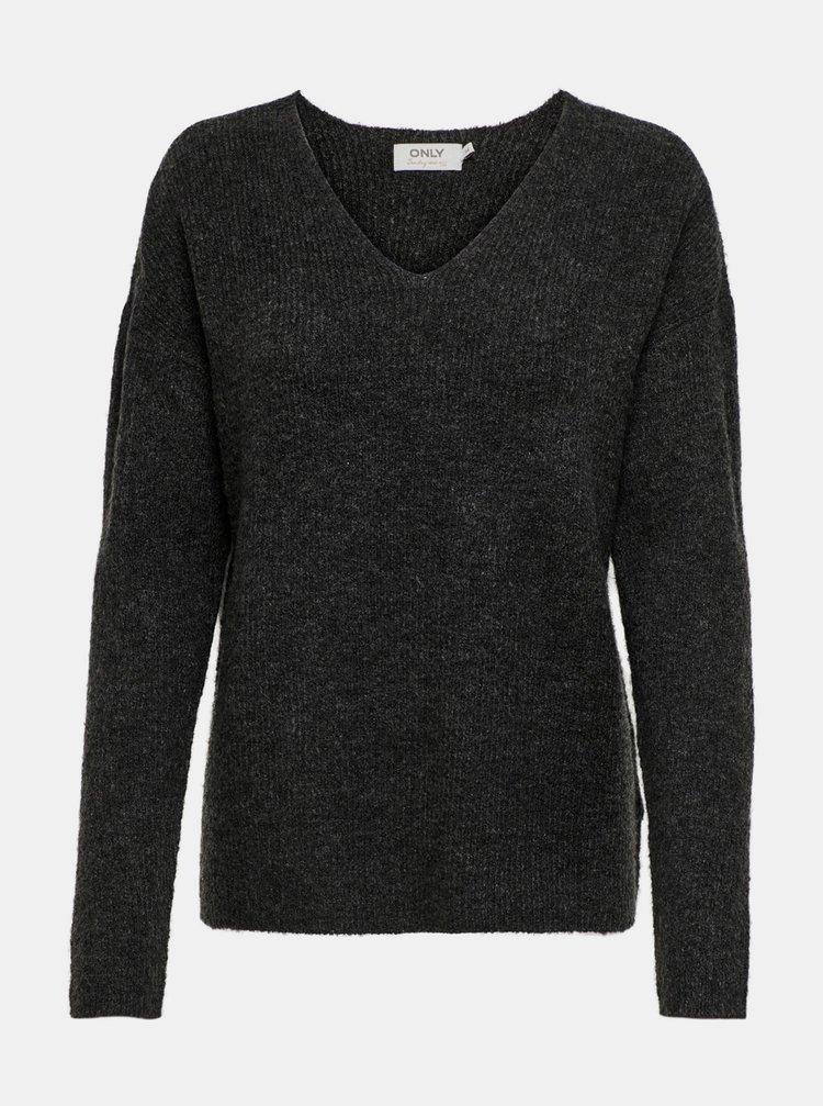 Tmavě šedý svetr ONLY Camilla