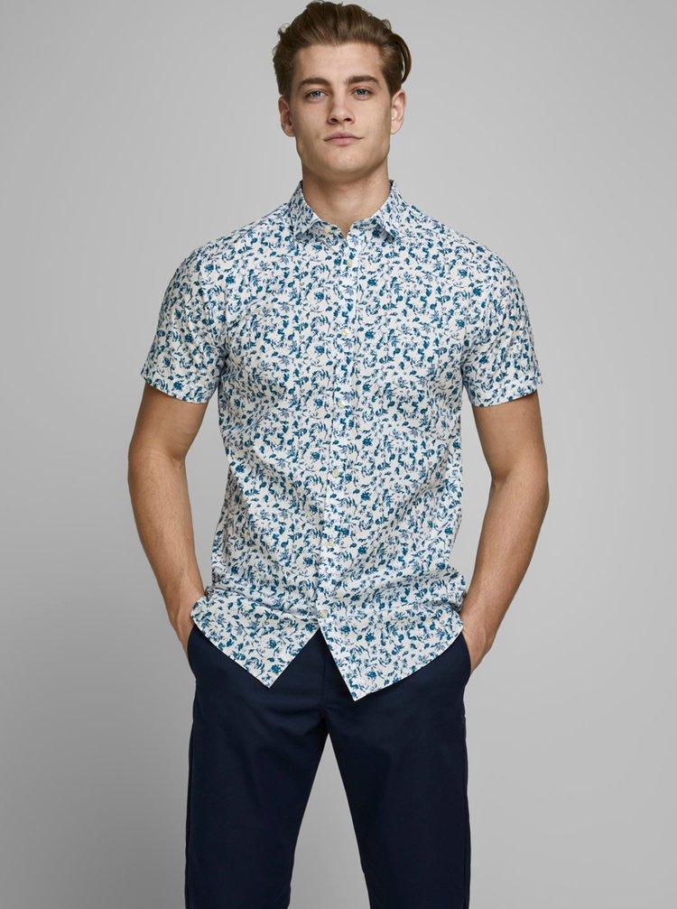 Světle modrá vzorovaná košile Jack & Jones