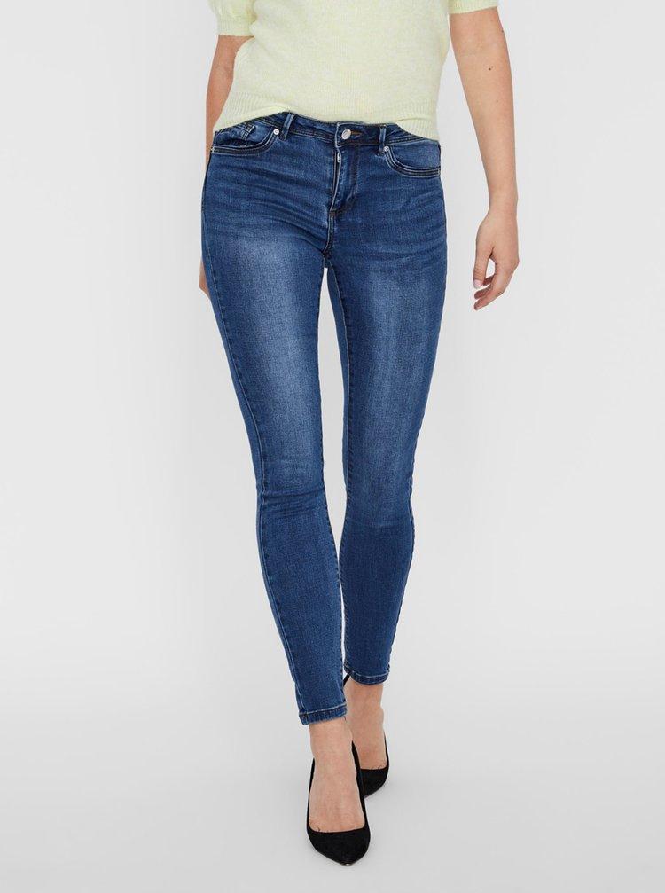 Modré skinny fit džíny VERO MODA Tanya