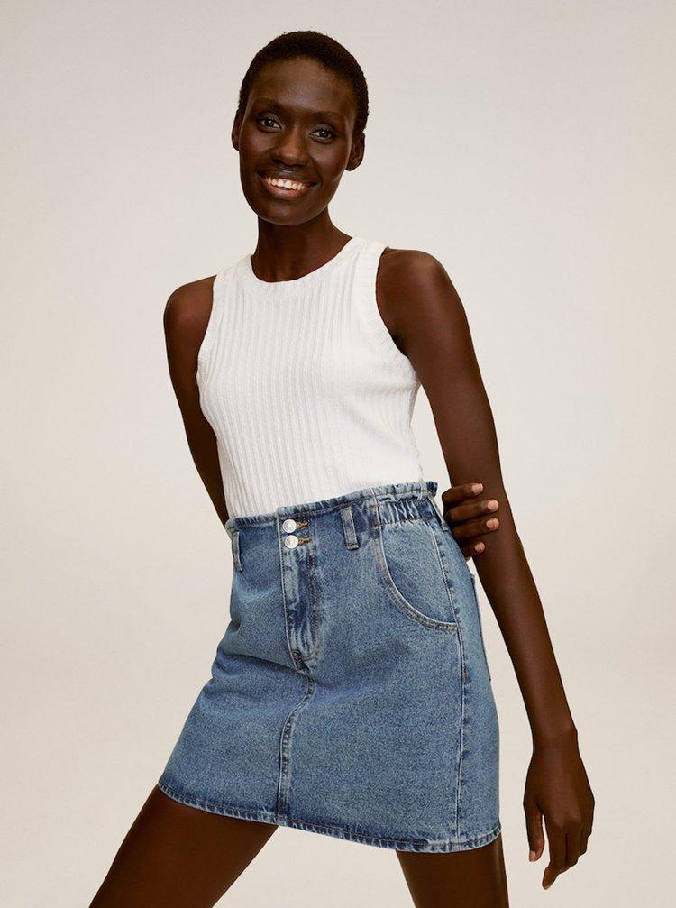 Modrá džínová sukně Mango