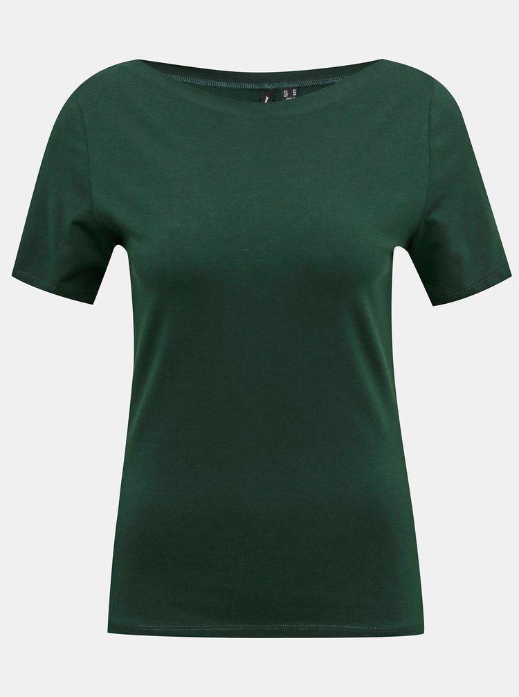 Zelené basic tričko VERO MODA Panda