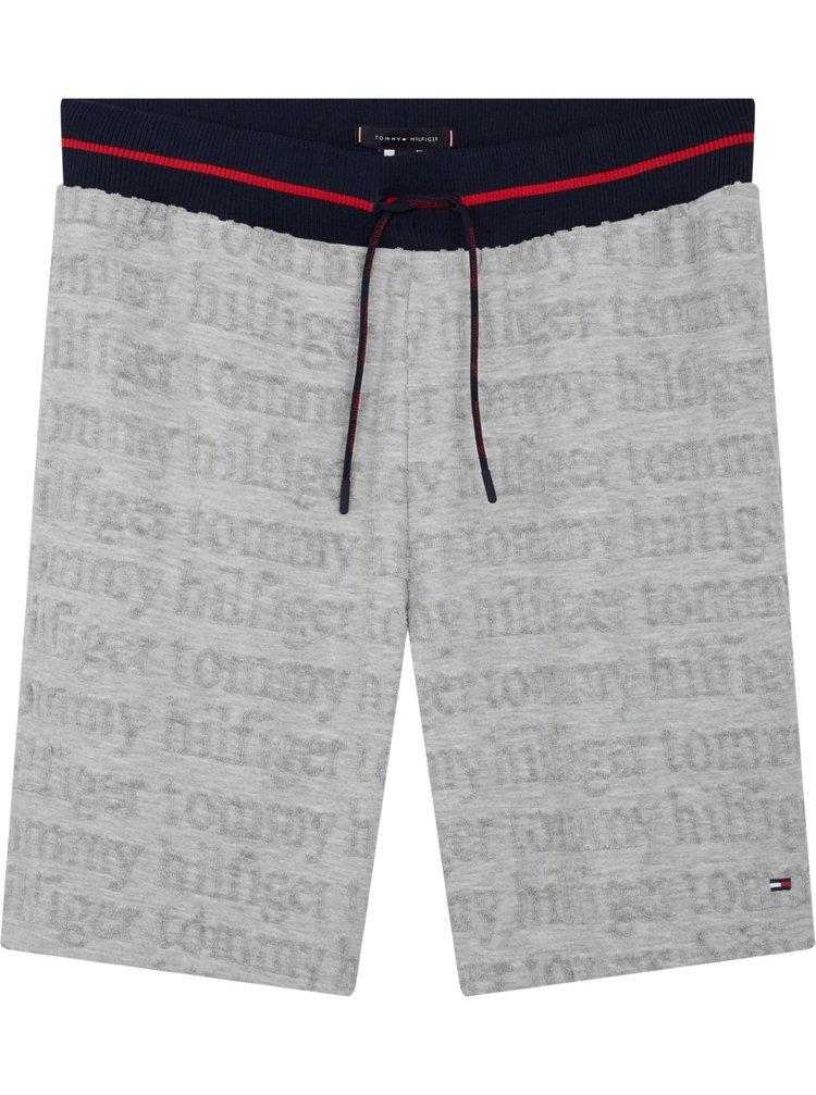 Tommy Hilfiger šedé pánské kraťasy Jersey Short Logo Grey HTR