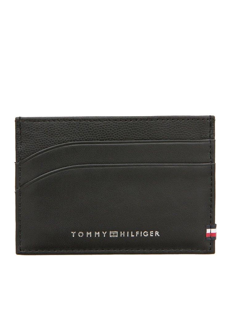 Tommy Hilfiger černý pánský kožený dokladovník BI-Material CC Holder Black
