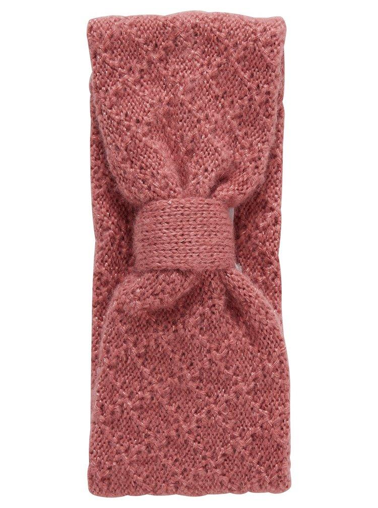 Ichi růžová úpletová čelenka Iamiss