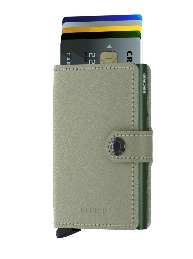 Secrid speciální kožená peněženka Mini Wallet Crisple Pistachio Floral