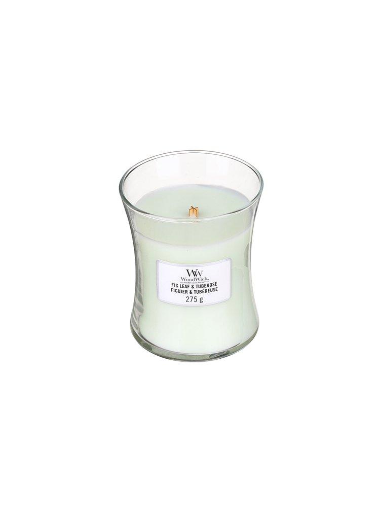 WoodWick vonná svíčka Fig Leaf & Tuberose střední váza
