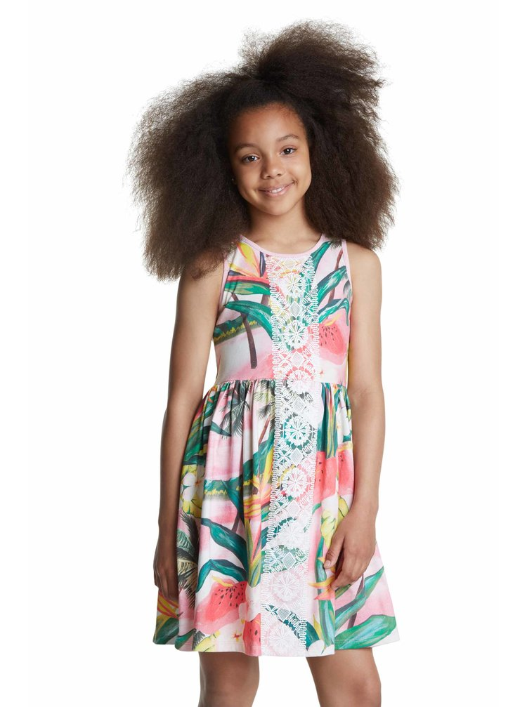 Desigual barevné dívčí šaty Vest Morelia
