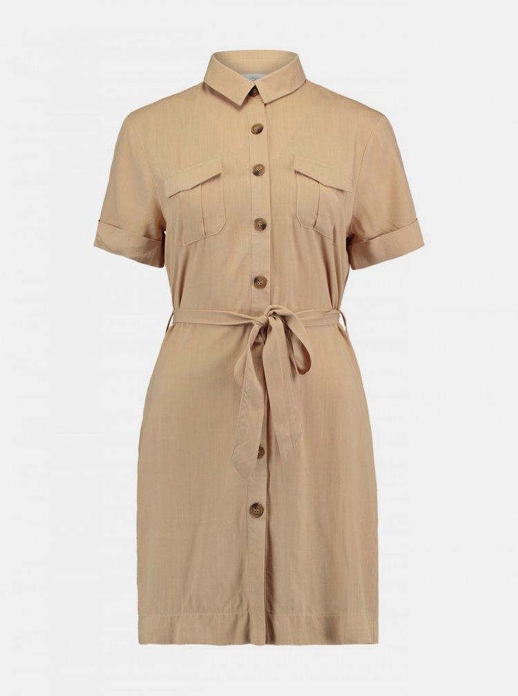 Béžová košilové šaty Haily´s