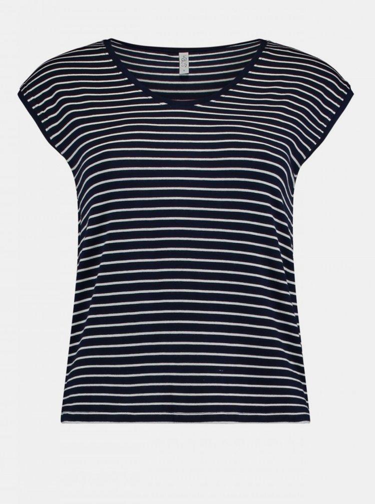 Čierne dámske pruhované tričko Haily´s