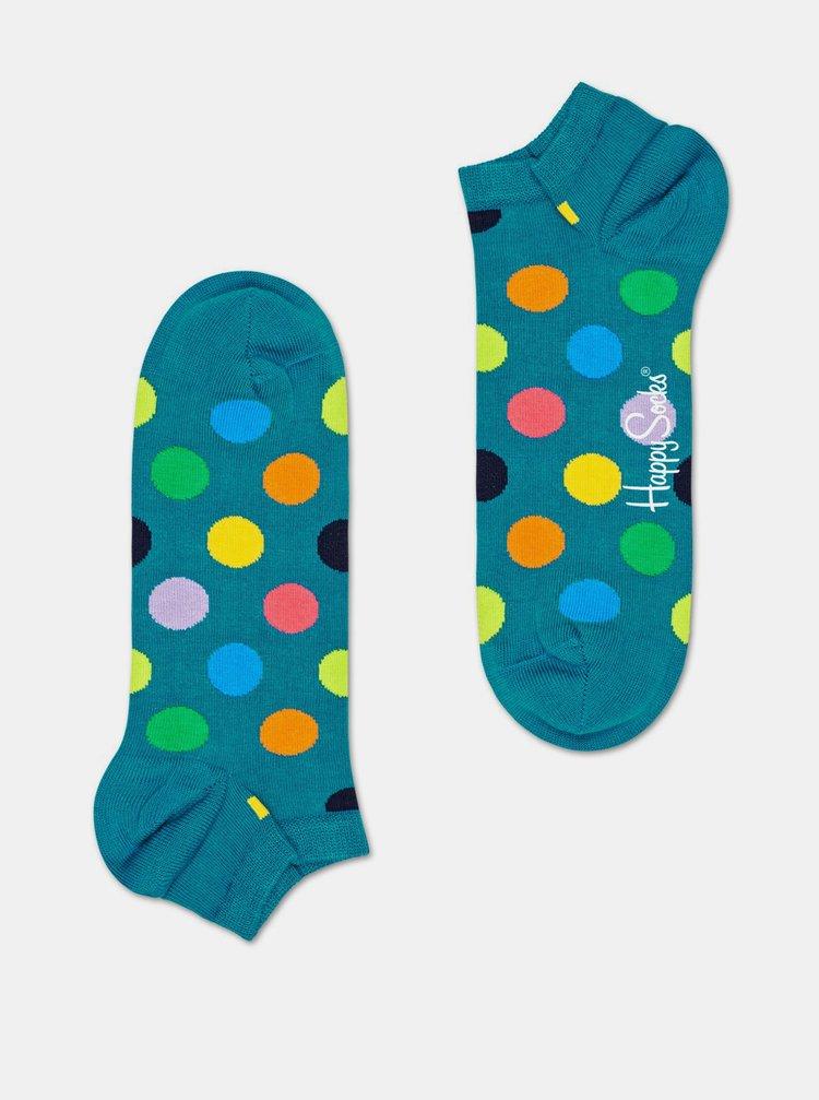 Zelené kotníkové puntíkované ponožky Happy Socks Big Dot