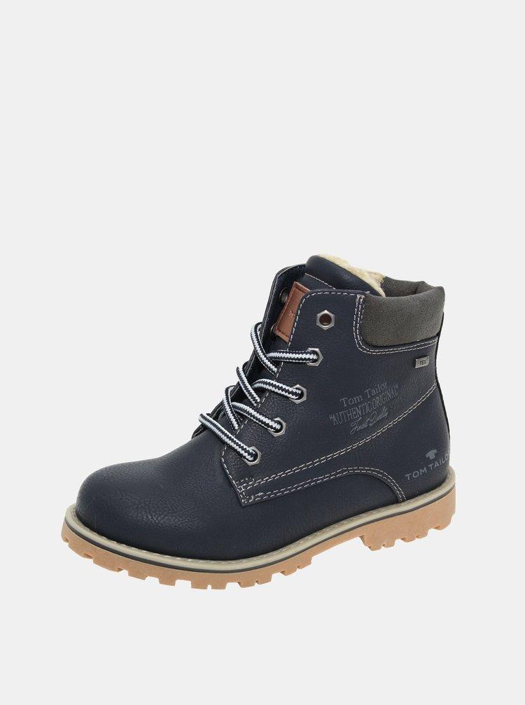 Tmavě modré dětské zimní  boty Tom Tailor