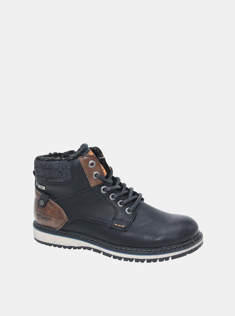 Černé pánské zimní kotníkové boty Tom Tailor