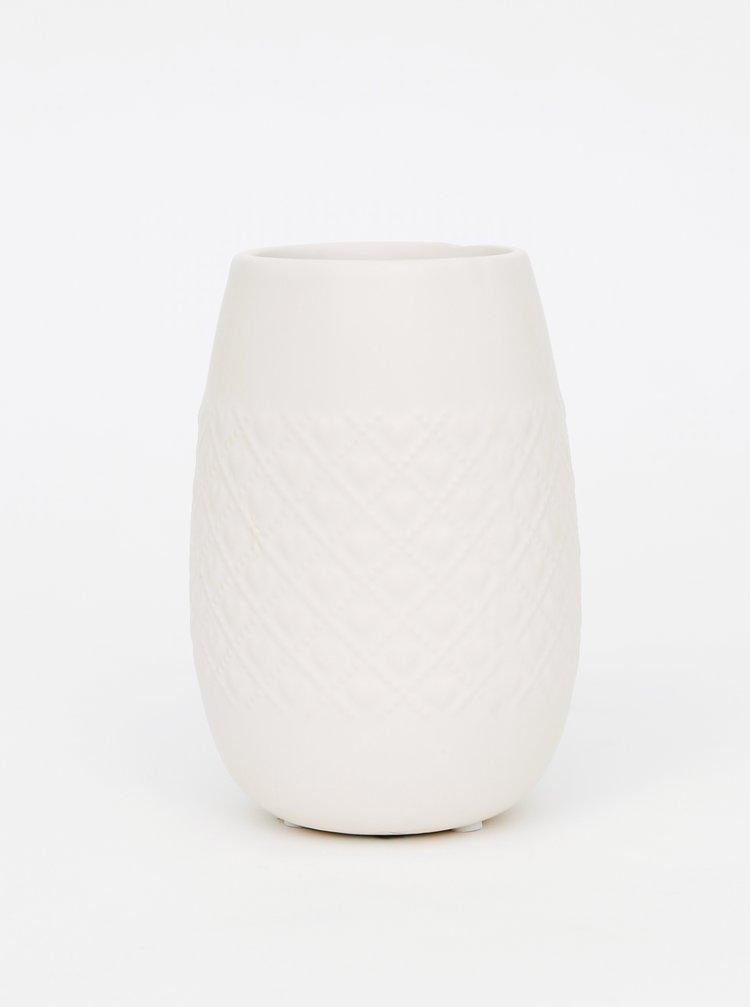 Krémová keramická váza Dakls