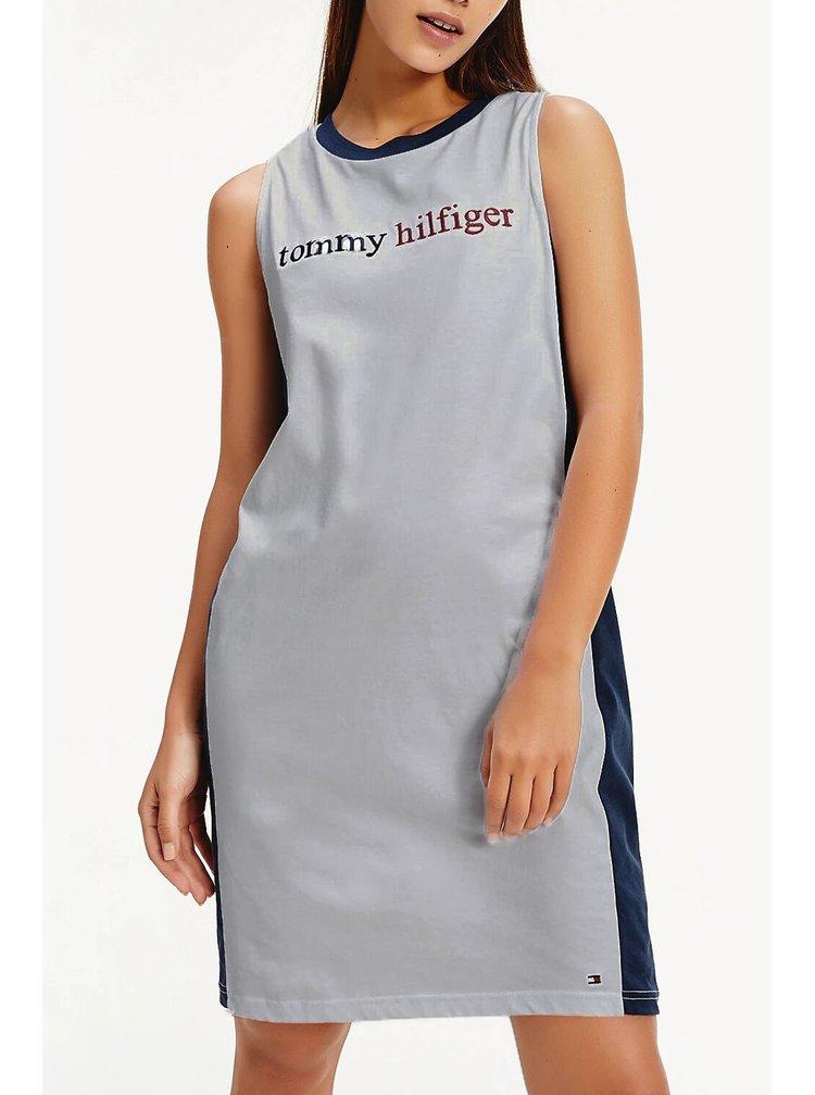 Tommy Hilfiger šedé šaty Night Dress Grey Heather