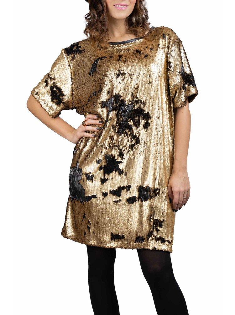 Simpo černo-zlaté flitrované šaty Flash