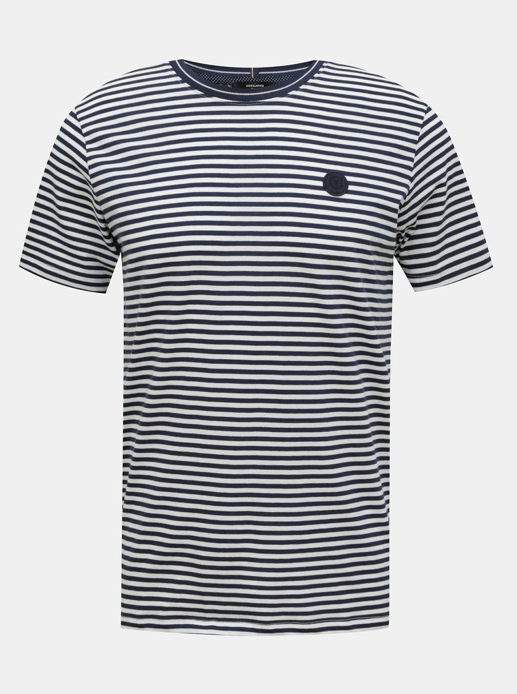 Bílo-modré pruhované tričko Jack & Jones Morgan